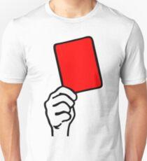 Camiseta unisex Foul - tarjeta roja