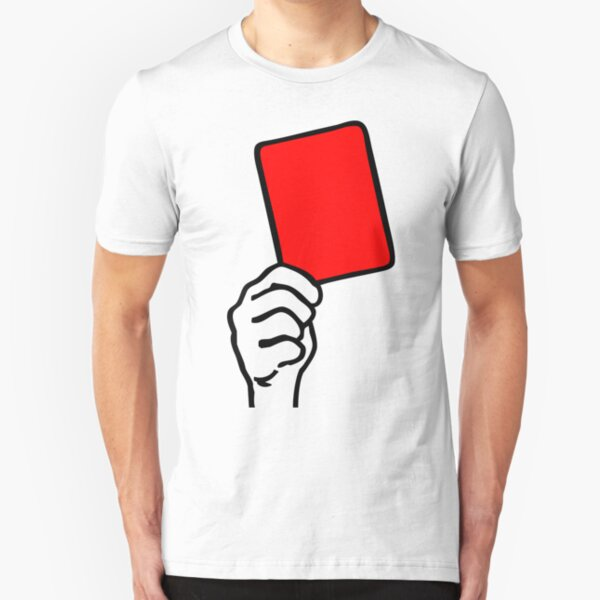 Foul - red card Slim Fit T-Shirt