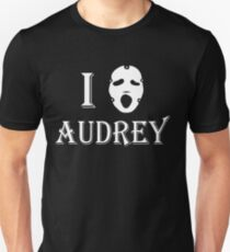I love Audrey - White Unisex T-Shirt