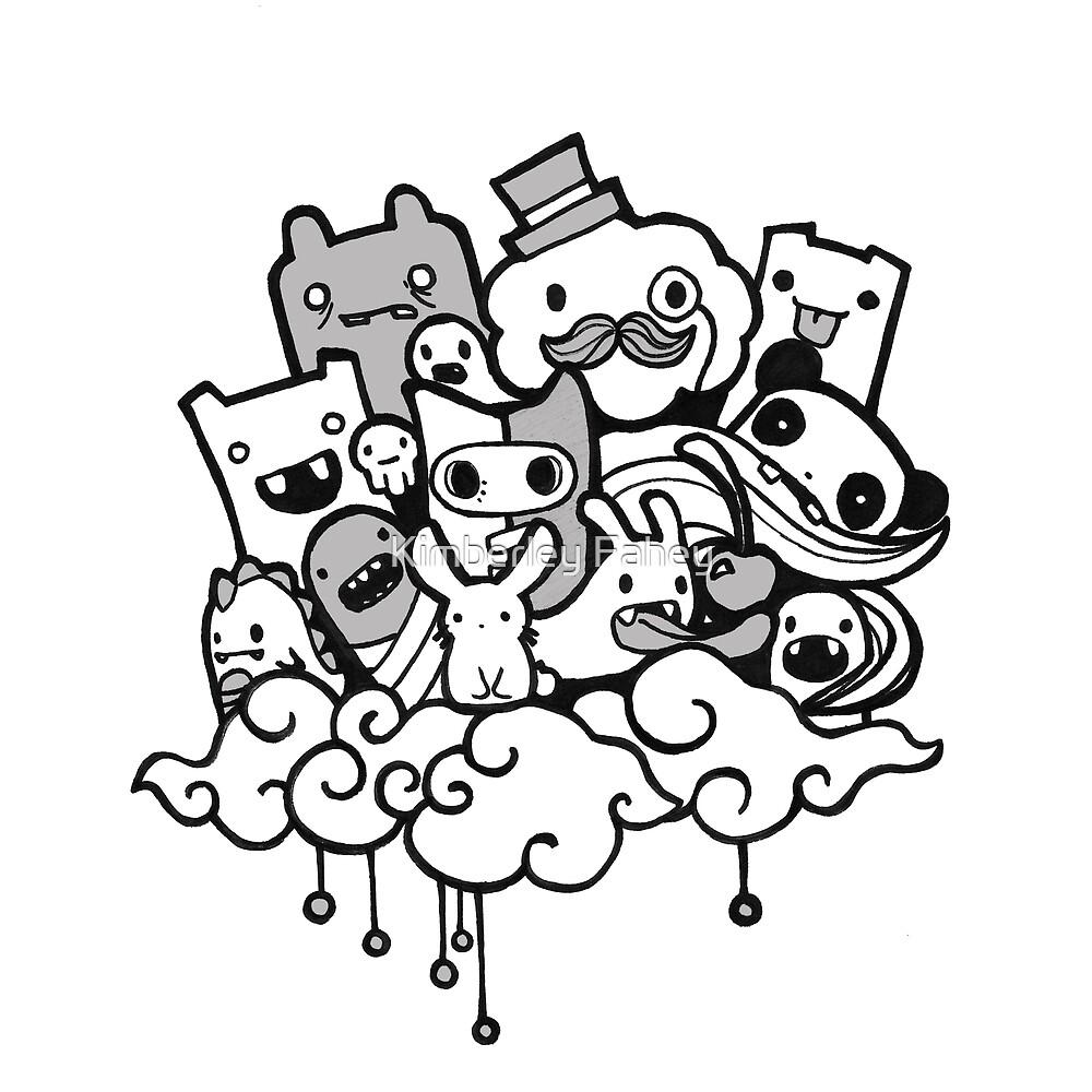 Random Doodle Characters By Kimberley Fahey