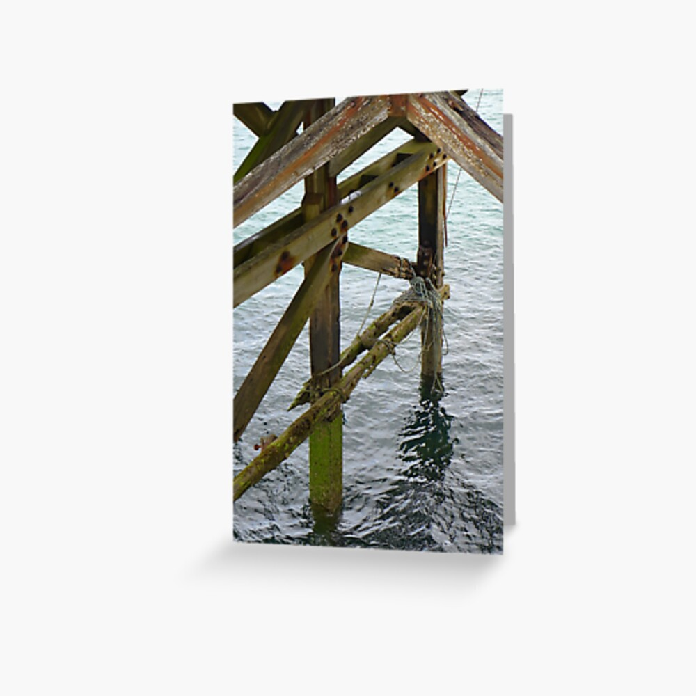 The old pier at Trefor Greeting Card