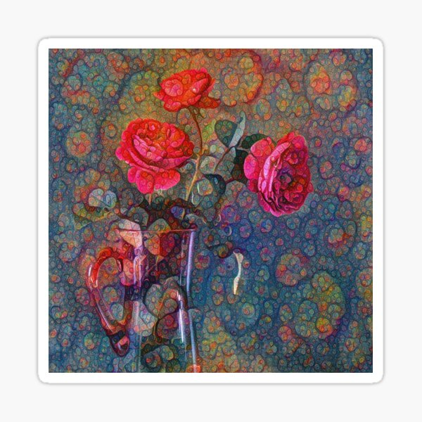 Roses #DeepDreamed Sticker