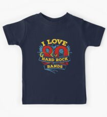 I love 80s Hard Rock Bands Kids Tee