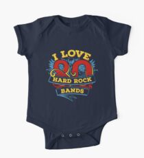 I love 80s Hard Rock Bands One Piece - Short Sleeve