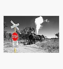 Stop for Trains Photographic Print