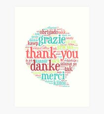 Thank you bubble Art Print
