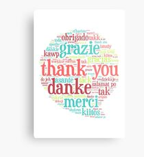 Thank you bubble Metal Print