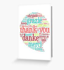 Thank you bubble Greeting Card