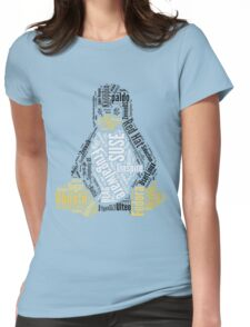 Tux Typo Womens Fitted T-Shirt