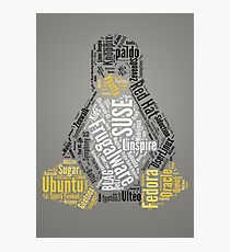 Tux Typo Photographic Print