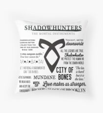Shadowhunters Quotes Throw Pillow