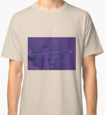 Jazz session. Drawing of man playing the trumpet. Classic T-Shirt