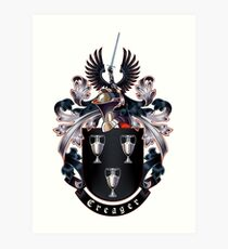 Creager Coat of arms (white background) Art Print