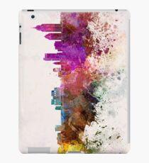 Mobile skyline in watercolor background iPad Case/Skin