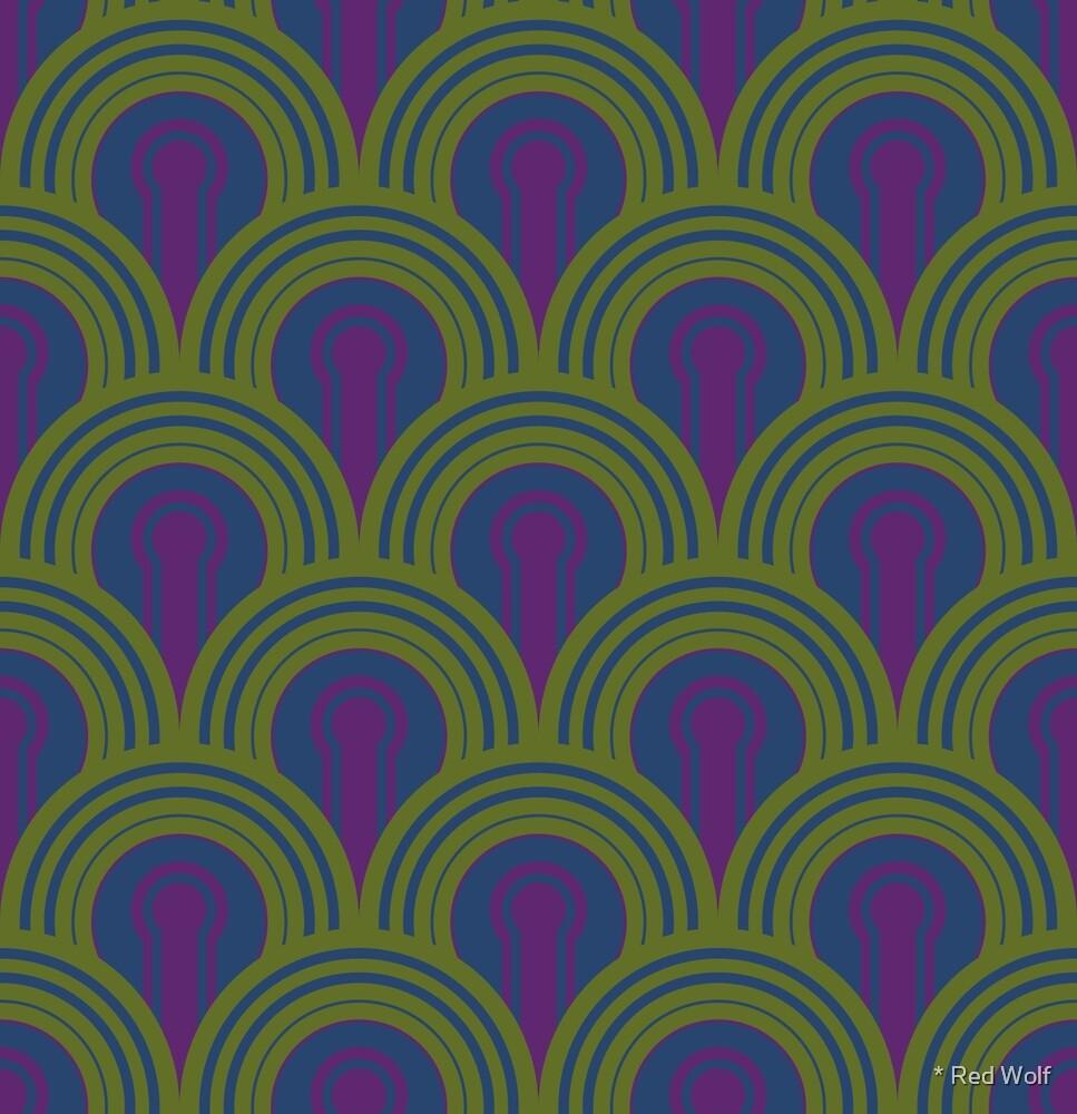 Geometric Pattern: Keyhole Arch: Kalamansi by * Red Wolf