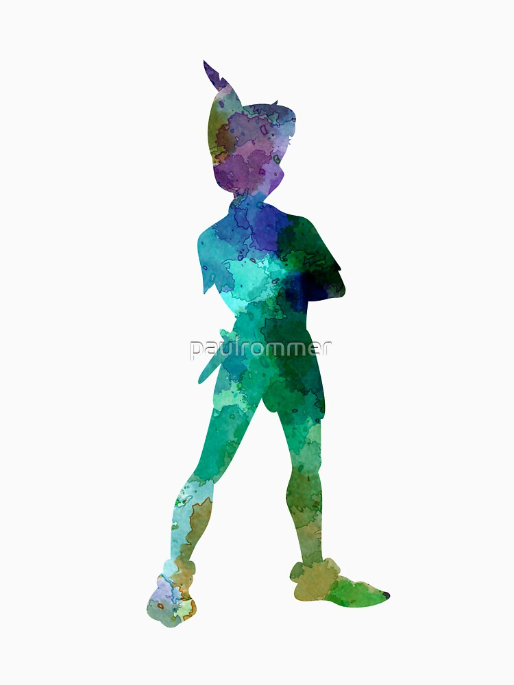 Peter Pan in Aquarell von paulrommer