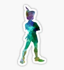 Peter Pan in Aquarell Sticker