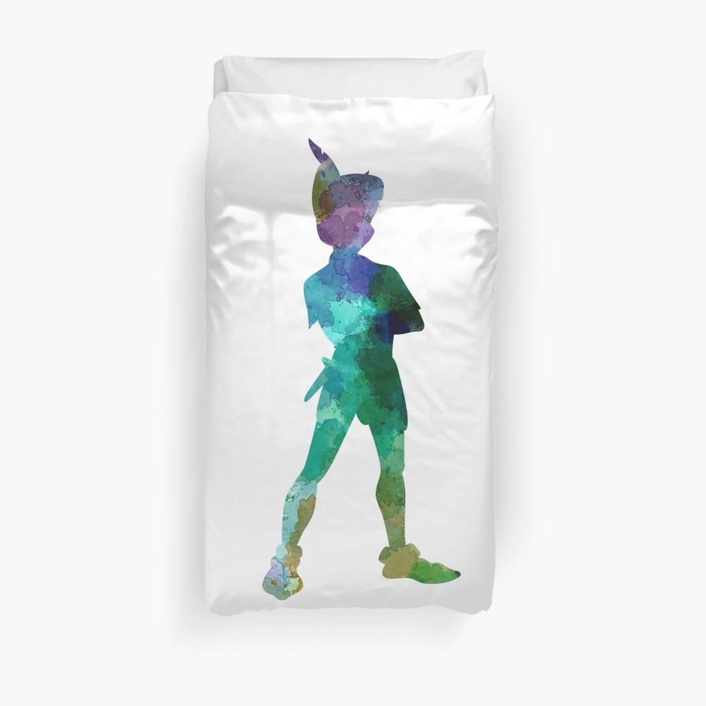 Peter Pan in Aquarell Bettbezug