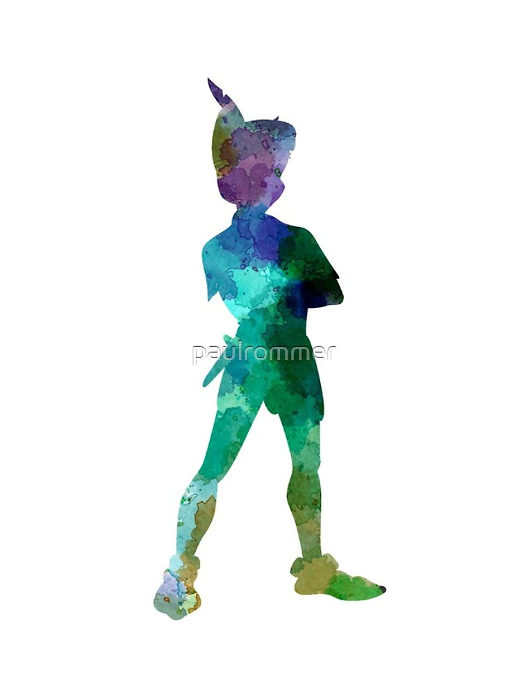 Peter Pan in Aquarell von paulrommer