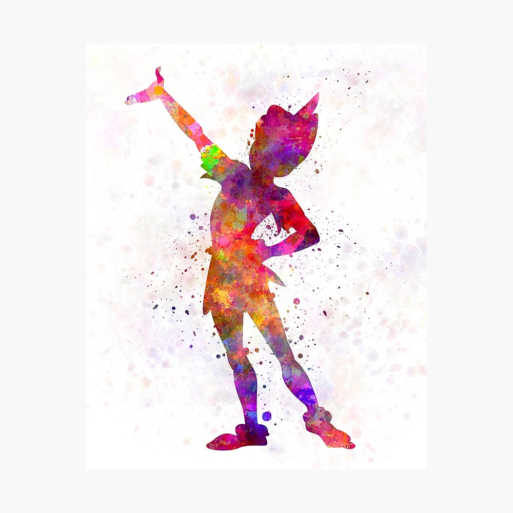 Peter Pan in Aquarell Fotodruck