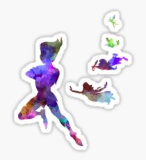 Peter Pan in watercolor Sticker