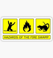 Hazards of The Fire Swamp Sticker