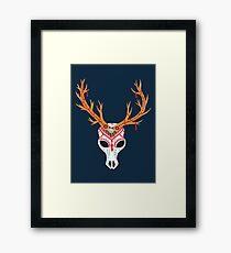 The Deer Head Skull   Framed Print