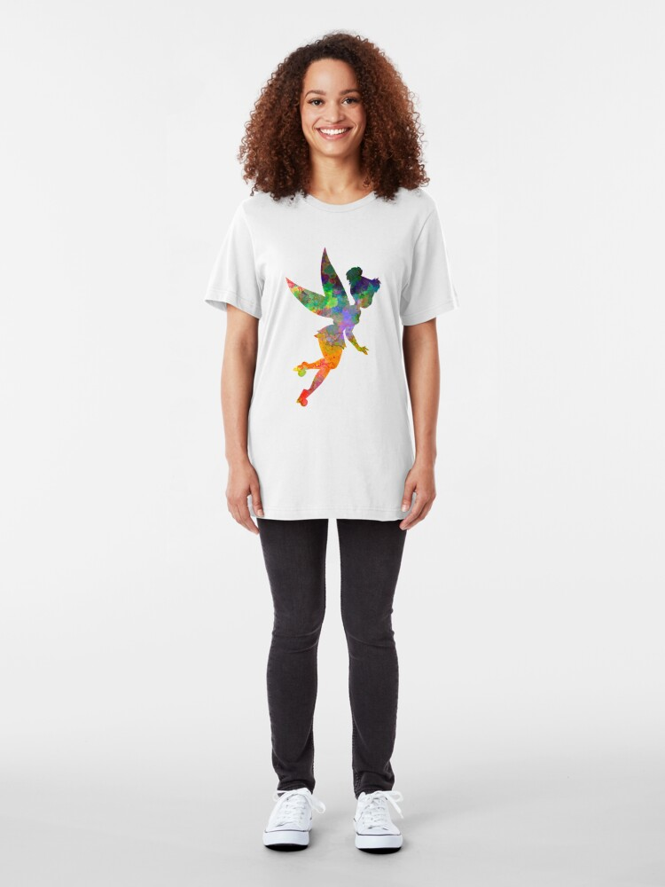 Alternate view of Tinkerbell in watercolor Slim Fit T-Shirt