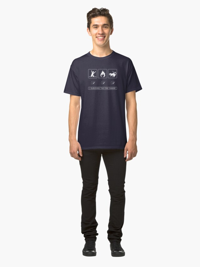 Alternate view of I survived the fire swamp Classic T-Shirt