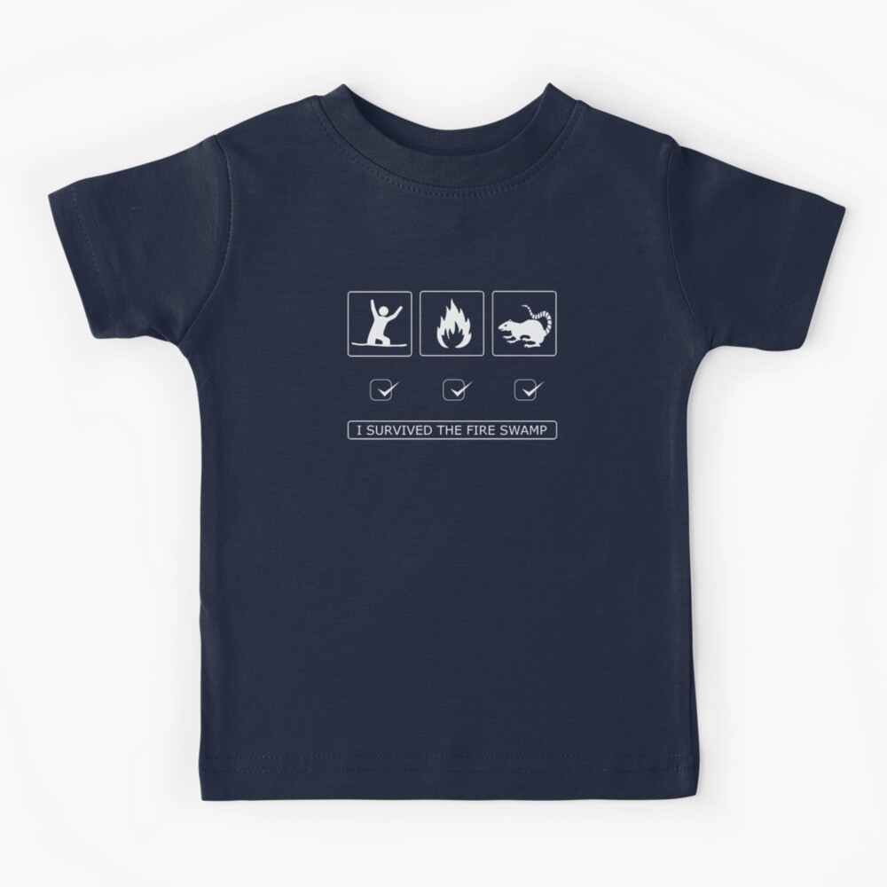 I survived the fire swamp Kids T-Shirt