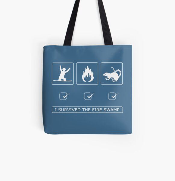 I survived the fire swamp All Over Print Tote Bag
