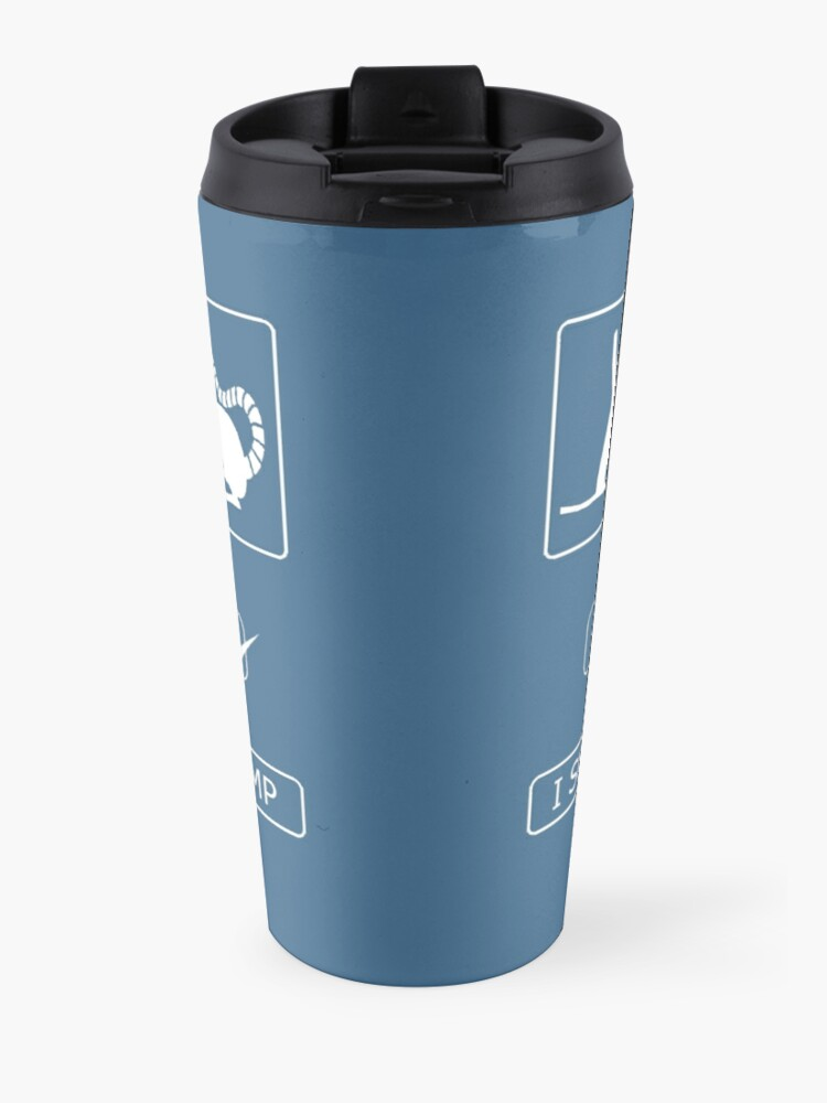 Alternate view of I survived the fire swamp Travel Mug