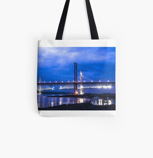 The New Forth Rd Bridge All Over Print Tote Bag