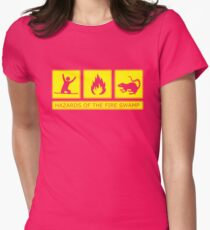 Hazards of the Fire Swamp Women's Fitted T-Shirt