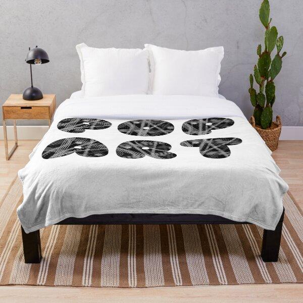 Pop Art - Black and White Throw Blanket