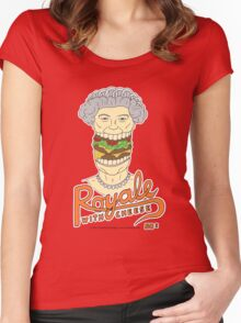 Royale with cheese Women's Fitted Scoop T-Shirt