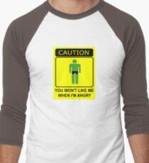Don't Make Me Angry Men's Baseball ¾ T-Shirt