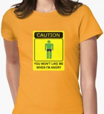 Don't Make Me Angry Women's Fitted T-Shirt
