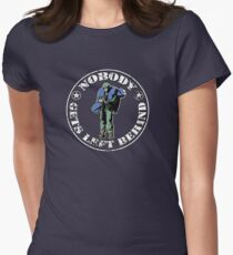 Nobody gets left behind - cookie monster version Womens Fitted T-Shirt