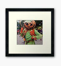 Pumpkin mask Framed Print