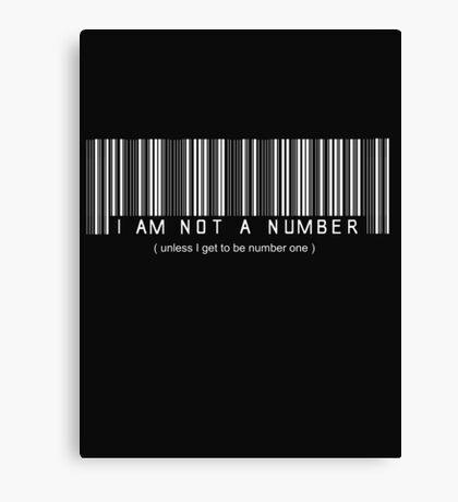 not a number, unless.. Canvas Print