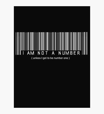 not a number, unless.. Photographic Print