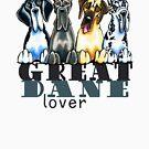 Great Dane Lover by offleashart