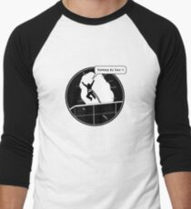 Yippee Ki Yay - with speech bubble Men's Baseball ¾ T-Shirt