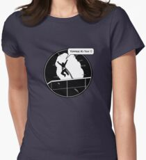 Yippee Ki Yay - with speech bubble Womens Fitted T-Shirt