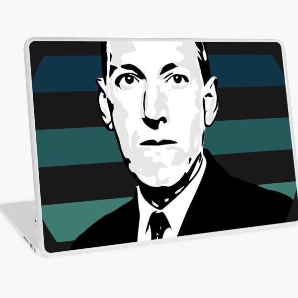 HP Lovecraft Bust with Vapourwave Sun Laptop Skin