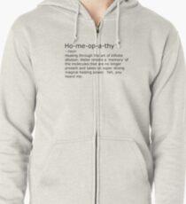 Homeopathy Zipped Hoodie