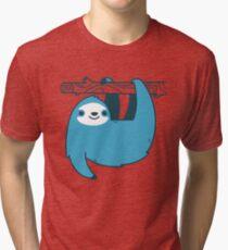 Sloth on a Branch Tri-blend T-Shirt