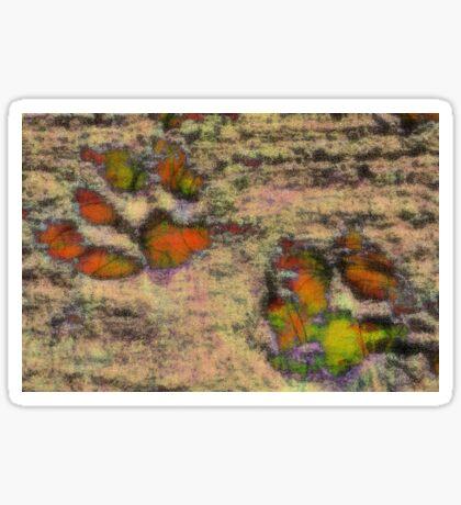 Paw Prints as Butterflies Sticker