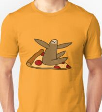 Sloth Riding a Pizza Unisex T-Shirt